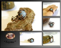 Tayme- wire wrapped ring by mea00