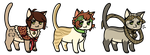 Chibi cats Adoptables 01 CLOSED by Roneri