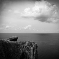 Conversation of rock and cloud by PansaSunavee
