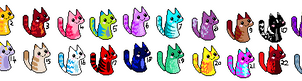 Kitten/Cat Adoptables (One Point Each) by ThePancakeThrower