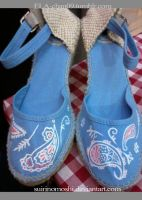 Customized/Hand-painted Espadrilles8 by suirinomoshi