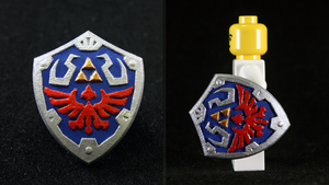 LEGO 3D Printed Painted Hylian Shield (SS) by mingles
