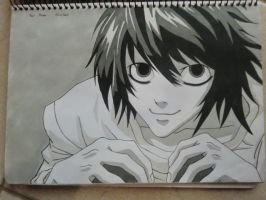 L beautiful drawing by KakuDaisuki