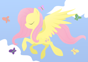 Peaceful Fluttershy by FreckledBastard