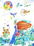 Fairy of the Rocks in Blue by Rika-Mystic-Artist