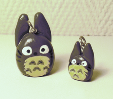 Totoro + Tiny Totoro Charms by Makirou