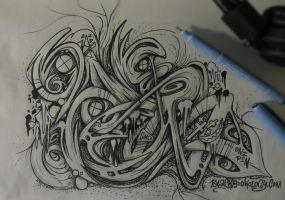 One Pen Graffiti sketch by SmecKiN