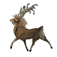 Ribbon Stag by ElysianImagery