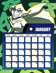 DtGR 2016 Calendar- January by Eleanorose123