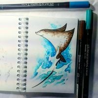 Instaart - Eagle ray by Candra
