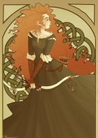 Art Nouveau Merida by brusierkee