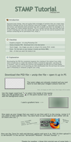 dA STAMP TUTORIAL WITH  .PSD by Timesplitter92