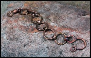 Copper Chain Bracelet by OrestesGraphics