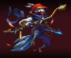 Official Awesomenauts splash art Shinobi Rocco by Wan-Yie