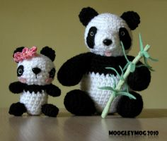 46. Black and White - Pandas by MoogleyMog
