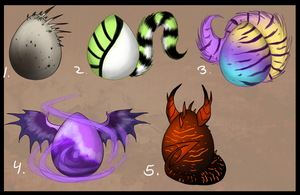 Egg Adoptables 6 -closed- by Julkkuli