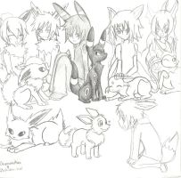 Eevee Family Collab by screms