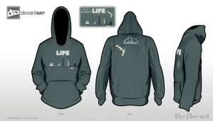 Hoodie_Template of life by jiji82