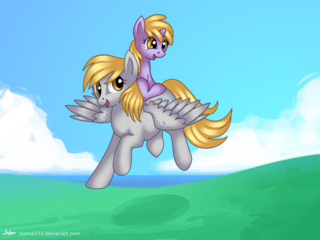 Derpy and Dinky by Meme772