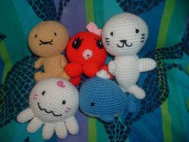 Sanrio Sea Characters by Nanettew9