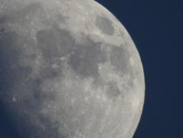 Moon Closeup by Seagaullsphotography