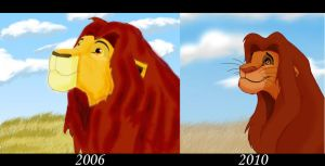Simba Comparison by silenceangel