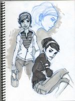 Girl sketches by VietNguyen