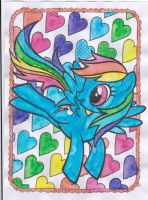 Paint with Water - Rainbow Dash by Driphtyr
