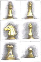 chess set, hand-sketched by sethness