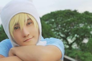 Finn Cosplay Adventure Time by liui-aquino