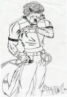 Lee as wolf grrr by 6oi