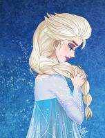 Elsa - The Snow Queen by RowenaJackson