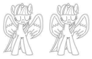 Twilight Sparkle outlined vector by Lampknapp
