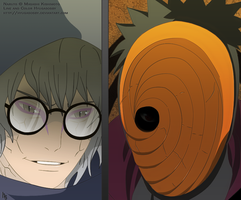 Tobi and Kabuto Face to Face by hyugasosby