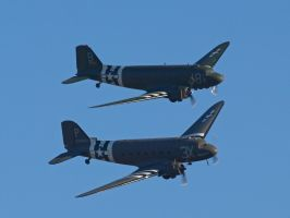Dakota Pair Duxford by davepphotographer