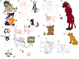 Giant unfinished art dump by Roi-Chaton-Noir