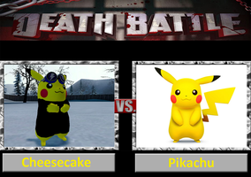 Death Battle: Cheesecake Vs Pikachu by DarkKomet