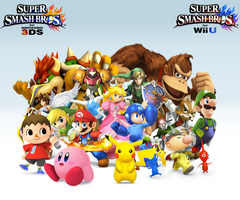 Super Smash Bros. Wii U/3DS Group Wallpaper by CrossoverGamer