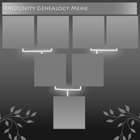 PMDU: Genealogy Meme! :BLANK: by Canarybirdz