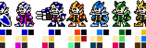 8-bit OVER-1 (With alternate armours) (UPDATE2) by geno2925