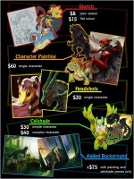 Digital Commission Pricelist by Silverbirch