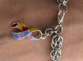 Autism Awareness Bracelet by Night-Maiden