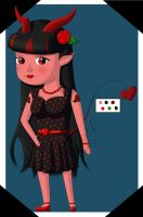 Rockabilly Devil Girl by AJBurnsArt