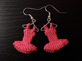candy pink dresses earrings by PannaBalbina