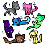 Kitty adopts O3O (CLOSED) 0/7 by ScribblyFandoms7