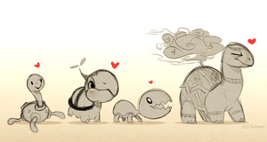 Poke Turtles by Sutexii