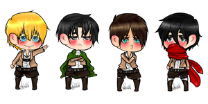 Attack on Chibis. by TinyShiro