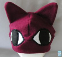 Burgundy cat hat by The-Cute-Storm