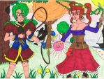 Carrie and Jessica - Dragon Quest VIII by BardofMaple