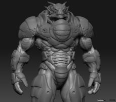 dragon soldier by InsomiaInc